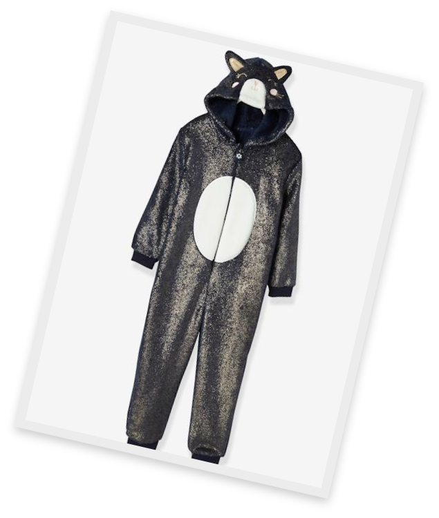 Made with real cat fur. No cats were harmed in the making of this onesie