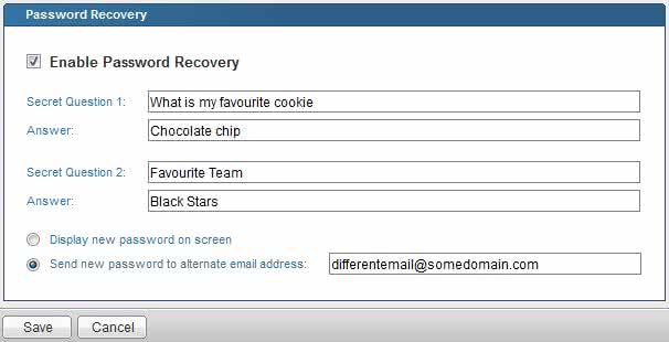 Email password recovery setup 2