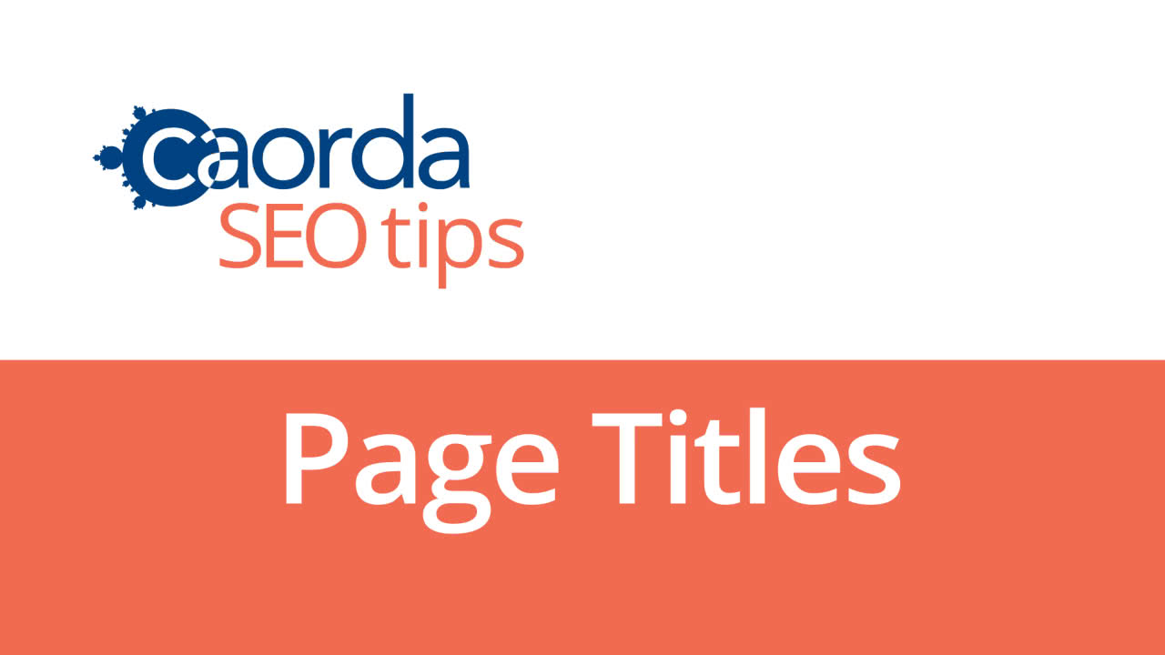 SEO Video: What are Page Titles and How to Use Them