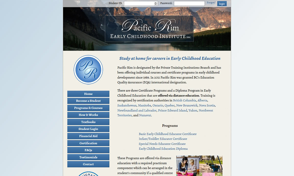 Pacific Rim Early Childhood Institute Caorda Web Solutions