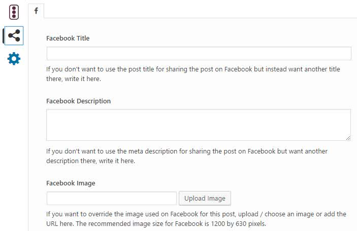 Yoast SEO Facebook Override Settings