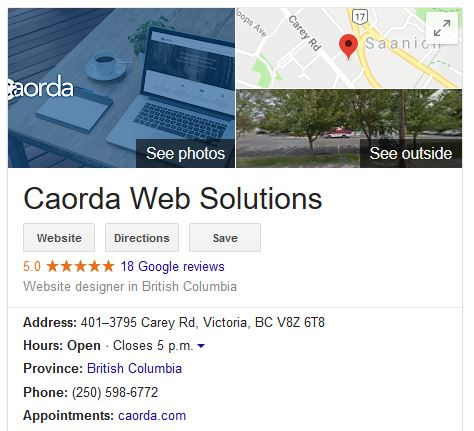Google-My-Business-example-Caorda-account-page