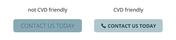 Comparison of buttons with high and low contrast