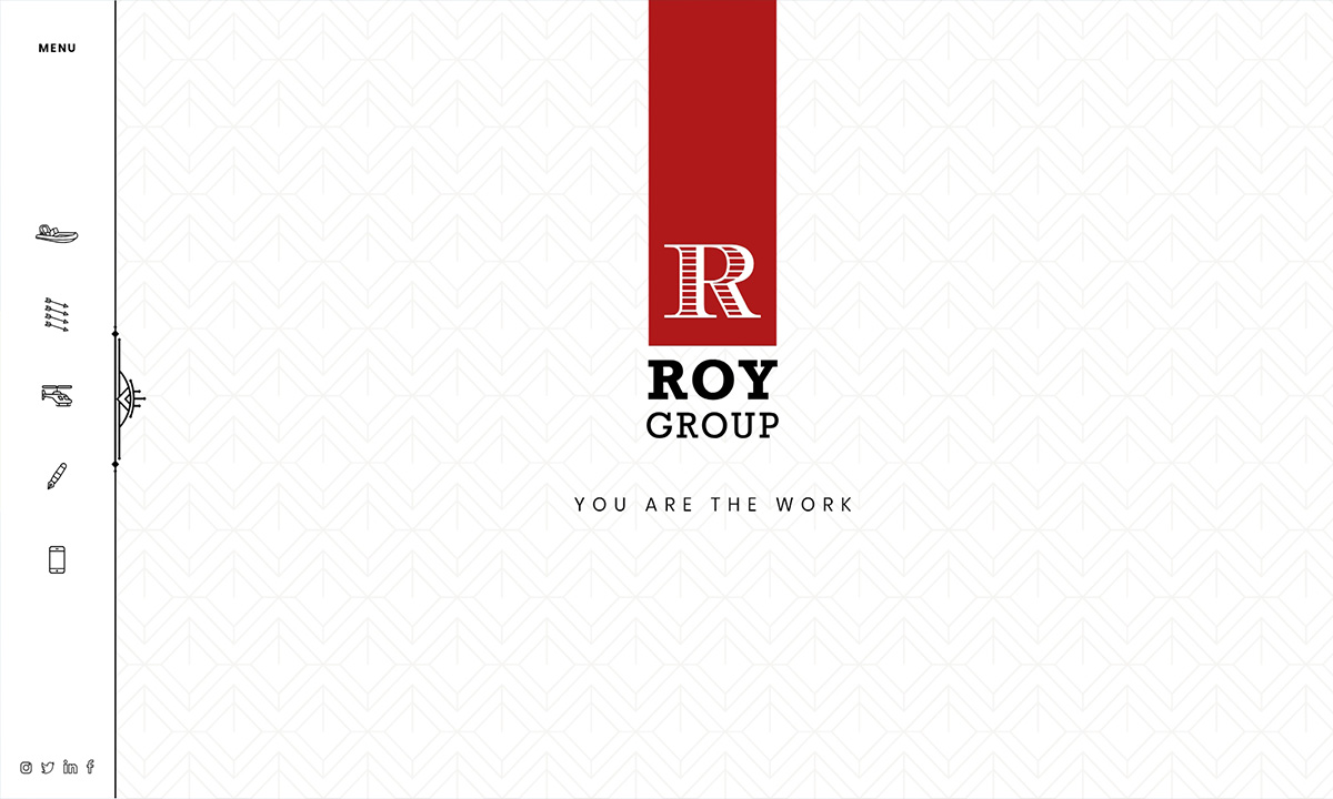 New Website for Roy Group - homepage