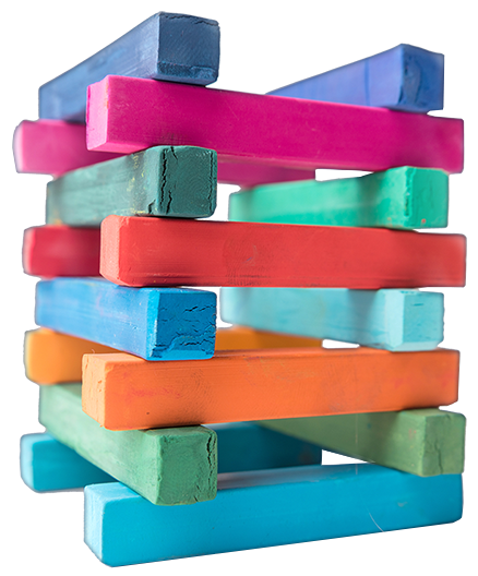 colorful-chalk-pieces-tower